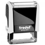Оснастка для прямоугольной печати Trodat Printy 38х14мм, белая-черная, 4911