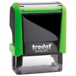 Оснастка для прямоугольной печати Trodat Printy 38х14мм, зеленое яблоко, 4911