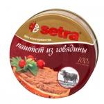 Паштет мясной Setra из говядины, 2штх100г