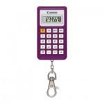 Калькулятор-брелок Canon KC 30 фиолетовый, 8 разрядов