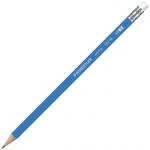 Карандаш чернографитный Staedtler Norica HB, корпус голубой, с ластиком