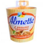 Сыр творожный Almette 60%, 150г, с белыми грибами