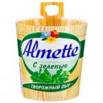 Сыр творожный Almette 60%, 150г, с зеленью
