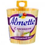 Сыр творожный Almette 60%, 150г, с чесноком