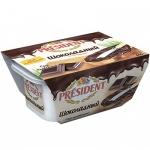 Сыр плавленый President, шоколадный, 400г