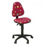 Кресло детское Бюрократ KD-4 ткань, красная, божьи коровки, крестовина пластик