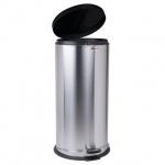 Контейнер для мусора с педалью Лайма Modern 30л, металлик, с внутренним ведром, 232265