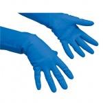 Перчатки резиновые Vileda Pro многоцелевые S, голубые, 100752