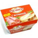 Сыр плавленый President с ветчиной, 30%, 400г