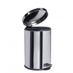 Контейнер для мусора с педалью Лайма Classic 20л, металлик, с внутренним ведром, 232262