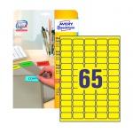 Этикетки удаляемые Avery Zweckform L4793-20, желтые, 38.1х21.1мм, 65шт на листе А4, 20 листов, 1300ш