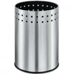 Корзина для бумаг Лайма Bionic 12л, металлик, перфорированная, несгораемая, 232268