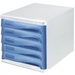 Бокс для бумаг Helit 289х290х234мм, 5 ящиков, серо-голубой, 6129484
