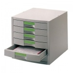 Бокс для бумаг Helit 324х396х324мм, 6 ящиков, серый, 6138182