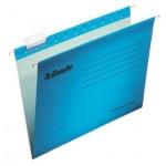 Папка подвесная Foolscap Esselte Plus синяя, А4+, 390x245 мм, 10 шт/уп