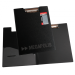 Клипборд с крышкой Erich Krause Megapolis черная, А4, 3873