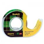 Клейкая лента канцелярская Scotch 12мм х 6.3м, прозрачная, двусторонняя