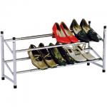 Полка для обуви, хром, SR-0222, 2 отделения, 350х630-1200х230мм