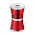 Точилка электрическая Brauberg Office style 1 отверстие, с контейнером, красная