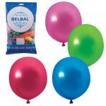 Воздушные шары Веселая Затея 12 цветов металлик, 30см, 50шт, в пакете, 1101-0034