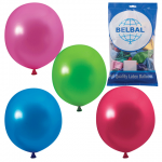 Воздушные шары Веселая Затея 12 цветов металлик, 36см, 50шт, в пакете, 1101-0025
