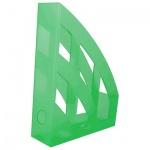 Накопитель вертикальный для бумаг Helit Economy А4, 75мм, зеленый
