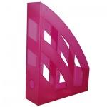 Накопитель вертикальный для бумаг Helit Economy А4, 75мм, малиновый