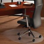 Коврик под кресло Floortex овальный 1250х990мм, 1,9мм, FC129919SR, для гладкой поверхности