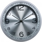 Часы настенные Бюрократ серебристые, d=30, круглые, R05P