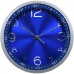 Часы настенные Бюрократ синие, d=30, круглые, R05P