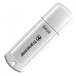 Флеш-накопитель Transcend JetFlash 370 64Gb, 16/6 мб/с, белый