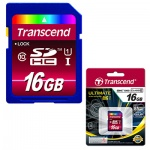 Карта памяти Transcend Ultimate SDHC, 16Gb, 45/85 мб/с