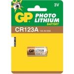 Батарейка Gp CR123A 3V, 3В, литиевая