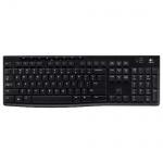 Клавиатура беспроводная USB Logitech Wireless Keyboard K270, черная