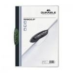 Пластиковая папка с клипом Durable Swingclip, А4, до 30 листов, зеленая