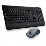 Набор беспроводной LOGITECH Wireless Desktop MK520, клавиатура,мышь 2кноп+1кол-кноп,черн(920-002600)