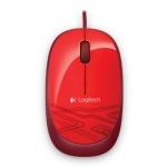 Мышь проводная оптическая USB Logitech M105, 1000dpi, красный