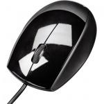 Мышь проводная оптическая USB Hama, черный