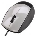 Мышь проводная оптическая USB Hama, черно-серебристый