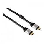 Кабель HDMI-HDMI Hama (m-m) 0.75 м, ver 1.4, двойное экранирование, черный