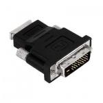 Адаптер переходник Buro HDMI-DVI-D (f-m) черный, позолоченные контакты, 817218