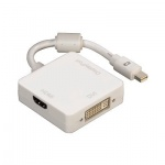 Адаптер Hama mini DisplayPort - DVI/DisplayPort/HDMI белый, 3 в 1, H-53245
