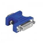 Адаптер Hama DVI-I analog-15-pin VGA (f-m) синий, H-45074