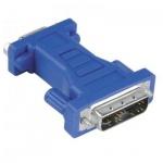 Адаптер Hama DVI-I analog-15-pin VGA (m-f) синий, H-45073