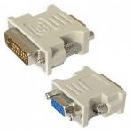 Адаптер Buro DVI-I-15-pin VGA (m-f) белый, 817238