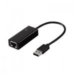 Адаптер Hama Fast Ethernet, USB 2.0, USB-RJ 45 (8p8с), 0.5м