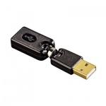 Адаптер Hama USB 2.0 A-A (m-f) черный, поворотный, H-54538