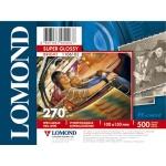 Фотобумага для струйных принтеров Lomond А6, 500 листов, 270г/м2, суперглянцевая, 1106103