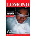 Термотрансферная бумага Lomond А3, 50 листов, 140 г/м2, на светлых тканях, для струйной печати, 808315