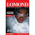 Термотрансферная бумага Lomond А4, 50 листов, 140г/м2, для светлых тканей, для струйной печати, 8084